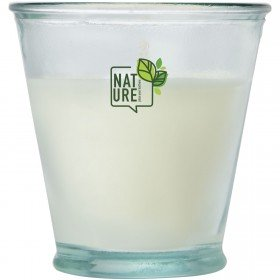 Bougie de soja Luzz avec support en verre recyclé