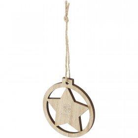 Décoration en bois Natall en forme d'étoile
