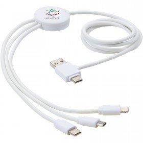 Câble de charge 5-en-1 Pure avec additif antibactérien