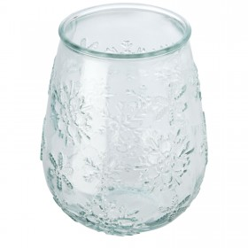 Porte-bougie Faro en verre recyclé