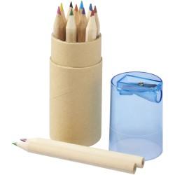 Set de 12 crayons de couleur avec taille-crayon Hef