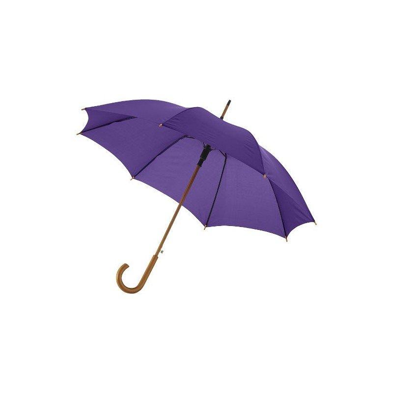 """Parapluie 23"""" à ouverture automatique, poignée et mât en boi"""