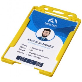 Porte-badge transparent Pierre