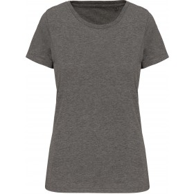 T-shirt Supima® col rond manches courtes femme