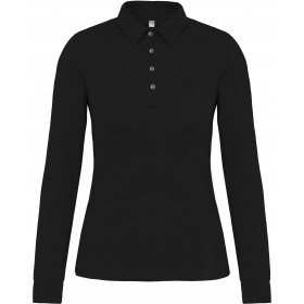 Polo jersey manches longues femme