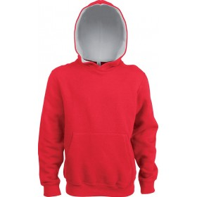 SWEAT-SHIRT CAPUCHE CONTRASTÉE ENFANT