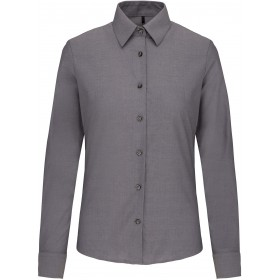 Chemise Oxford Manches Longues Femme