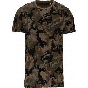 T-shirt camo manches courtes homme