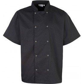 Veste de cuisine manches courtes à boutons pression