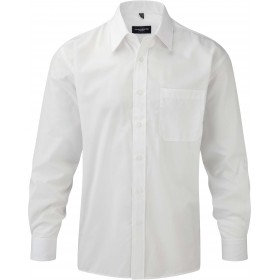 CHEMISE HOMME POPELINE POLYCOTON MANCHES LONGUES
