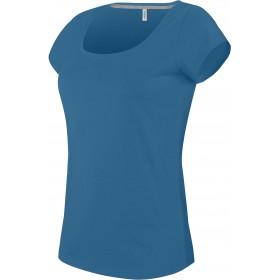 T-Shirt Col Bateau Manches Courtes Femme