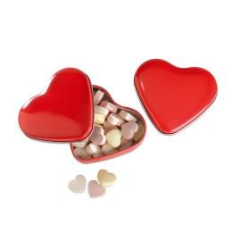 Boîte coeur avec bonbons       MO7234