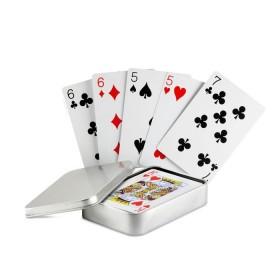 Cartes à jouer boîte étain     MO7529